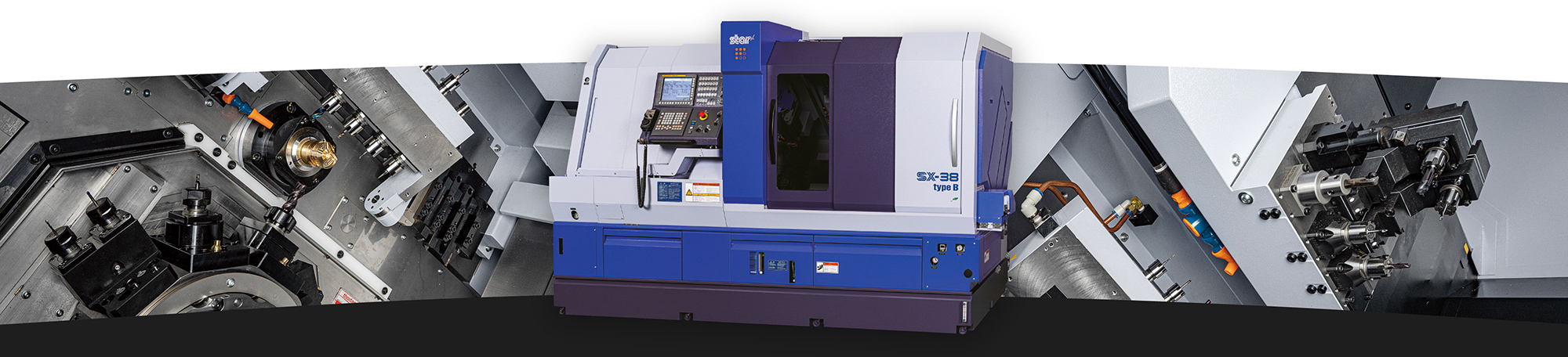The new SX-38 sliding head lathe
